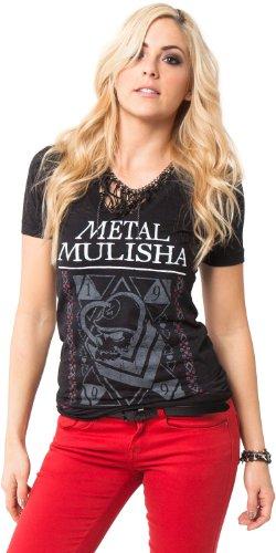 Metal Mulisha T-Shirt / Top / Tee KEEPER TEE Schwarz Schwarz