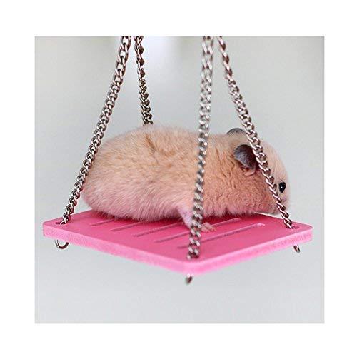 Banana99 Hamster Schaukel Spielzeug für kleine Haustiere Hängematte Eichhörnchen Spielzeug DIY Ornament Rose