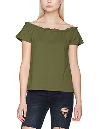 VERO MODA Damen Vmenjoy Off Shoulder Top Mix Ga Jrs A Grün (Ivy Green)