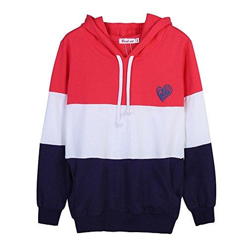 Loveble Sweat-shirt à capuche décontracté de Parent-enfant Hoodie Pullover décontracté de famille / automne Enfant(Rouge)