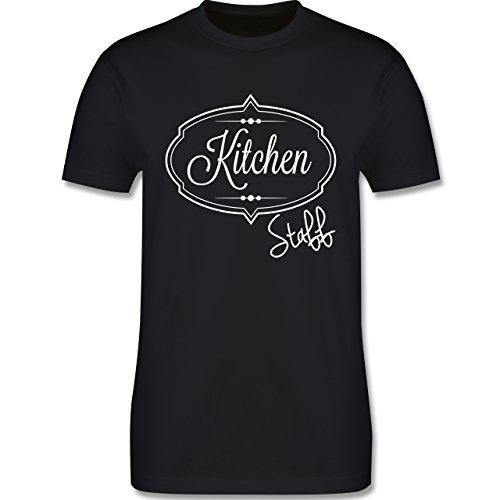 Küche - Kitchen Staff Küchenhelfer - Herren Premium T-Shirt Schwarz