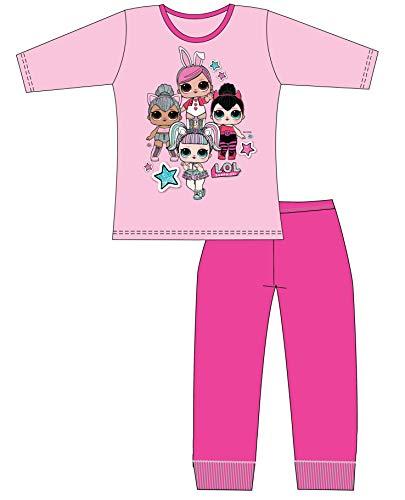 L.o.l surprise pigiama per bambine in cotone morbido lil sisters bambole (9-10 anni, 4 personaggi rosa chiaro)