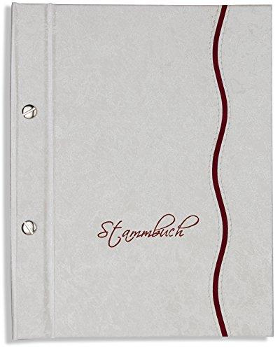 Preisvergleich Produktbild A5 Stammbuch der Familie -Lante-, Familienstammbuch, Stammbücher, Marmoriertes Glanzmaterial, weiss, incl. Folien, DIN A5