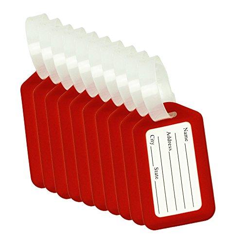 CSTOM 10x Rouge Étiquette de Bagage Valise Accessoires...