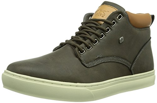 British Knights WOOD, Sneaker alta Uomo, Grigio (Grau (Dk. Grey-Cognac04)), 44