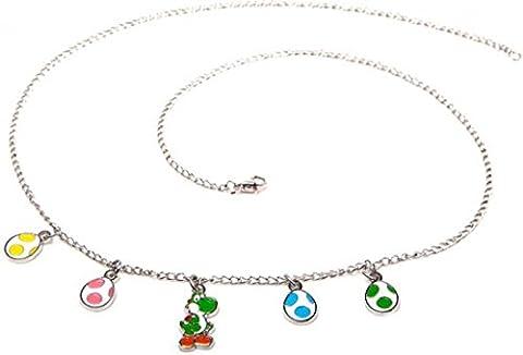 Nintendo Super Mario Bros - Yoshi & Eggs Pendant Necklace   One Size