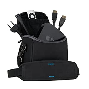 Apple TV Travel Bag & Carrying Case with Movable Dividers & Accessory Pockets for Remote Control, HDMI Cable and AC Wall Adapter *Includes Cleaning Kit*