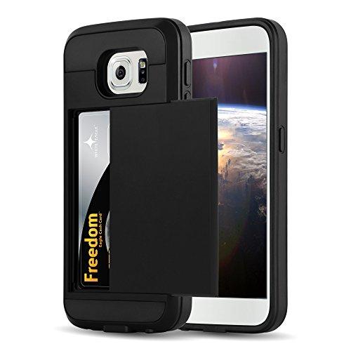 Preisvergleich Produktbild Cadorabo - TPU Silikon Hard Case für Samsung Galaxy S6 Hybrid Cover im Tresor Design mit verstecktem Kartenfach in TRESOR-SCHWARZ