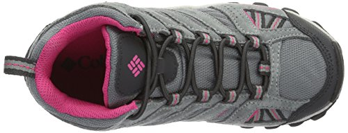 Columbia Mädchen Childrens North Plains Mid Waterproof Trekking-& Wanderhalbschuhe Grau (Grey Ash/ultra Pink 022)
