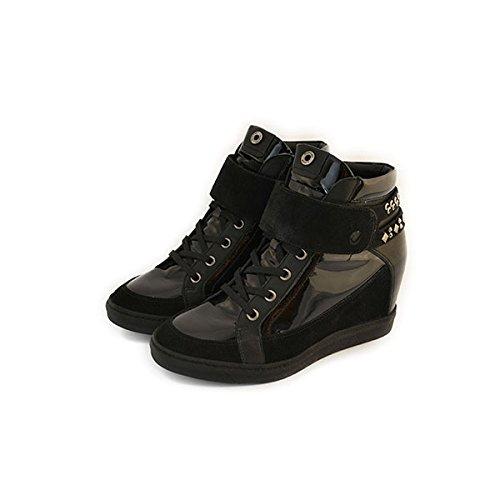 Scarpe Janet Sport sneakers numero 36 donna in vernice e camoscio nero 32851NERO