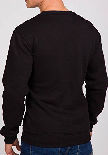 BOLF – Sweat-shirt – Manches longues – U-neck – Homme – MIX Noir_1230