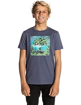 Rip Curl Buen Día–los Niños de Manga Corta Camiseta, Infantil, KTELL4, Blue Indigo, Talla 16