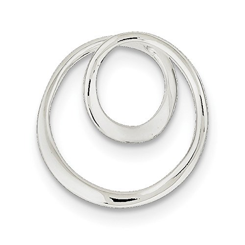 IceCarats Designer Jewellery Sterling Silver Polished Circle Pendant In 22 Inch
