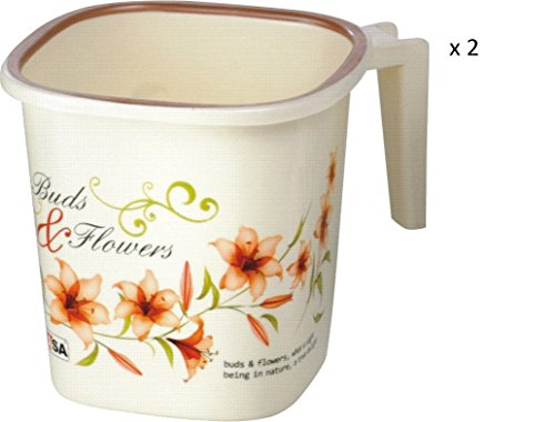 Cliq2Kart - Nayasa Plastic Square Ring Bathroom Mug with