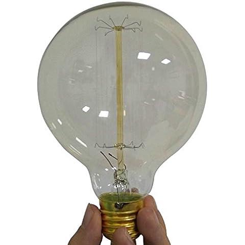 TOOGOO(R)Filamento Luz Bombilla Tungsteno Pendiente Vintage Decorativo Industrial Edison Luz (G125 40W 220V)