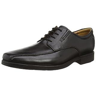 Clarks Tilden Walk, Herren Derby Schnürhalbschuhe, Schwarz (Black Leather), 42.5 EU (8.5 Herren UK)