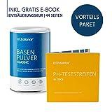 tri.balance Basenpulver Classic 300 g - 1er Pack inkl. 55 pH-Teststreifen - E-Book Entsäuerungskur I Vorteilspaket für den Säure-Basen-Balance