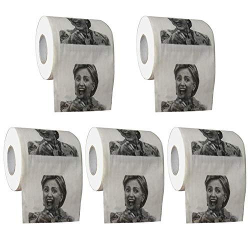 Leking Donald Trump und Hillary Toilettenpapier-Rolle (5 Stück) Segundo - 5 Stück Buffet