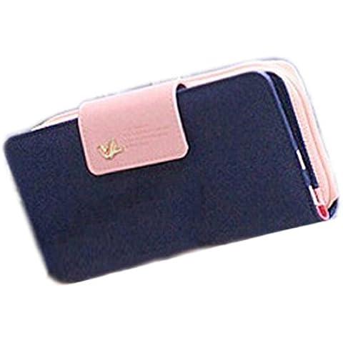 Vovotrade Uccelli frizione Portafoglio in pelle di caso zip lunga Vuitton Carta della borsa - Button Uccello