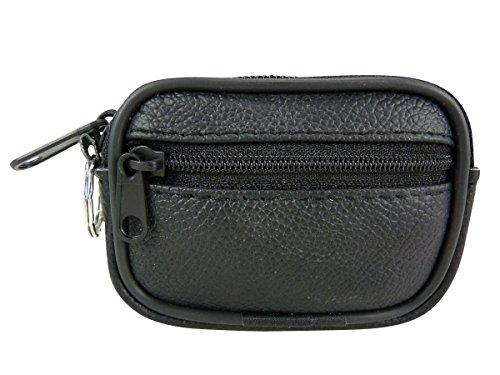 Mini/Kleine Tasche Gürtel kompakt zu Reißverschlusstaschen und Tür Schlüssel Schwarz Schwarz -
