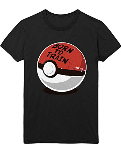 T-Shirt Poke Go Poke Ball Born to Train Team Rocket Jessie James Mauzi Kanto 1996 Blue Version Pokeball Catch 'Em All Hype X Y Blue Red Yellow Plus Hype Nerd Game C210004 Schwarz XXXL