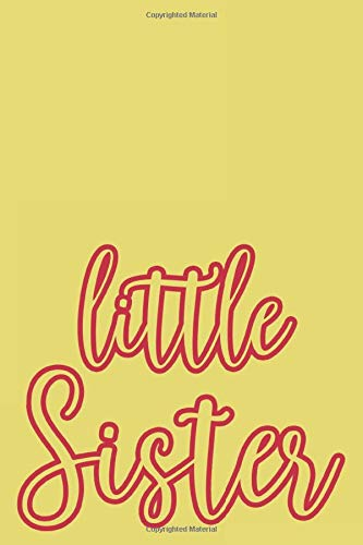 LIttle Sister: Cardinal and Straw Designer College Ruled Lined Blank Notebook Journal Notepad