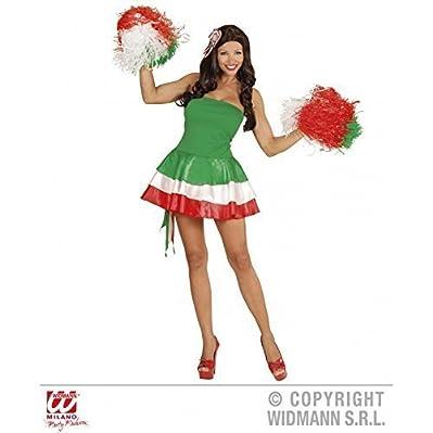 Alla Moda Costume Miss Italia / Vestito / Articoli Per Appassionati / Calcio Costume / Vestito Di Carnevale Tgl L = 42 - Materiale: Poliestere & plastica - Colore: verde - bianco - rosso - Taglia L = 42 - Dotazione Fornitura: 1 Vestito, 1...