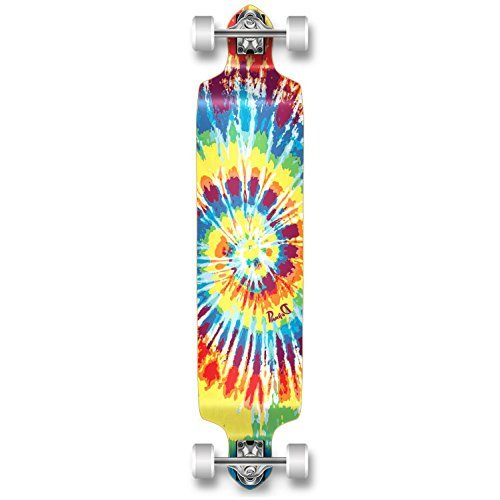 YOCAHER Professional Speed Drop Down Complete Longboard Skateboard (Tiedye...