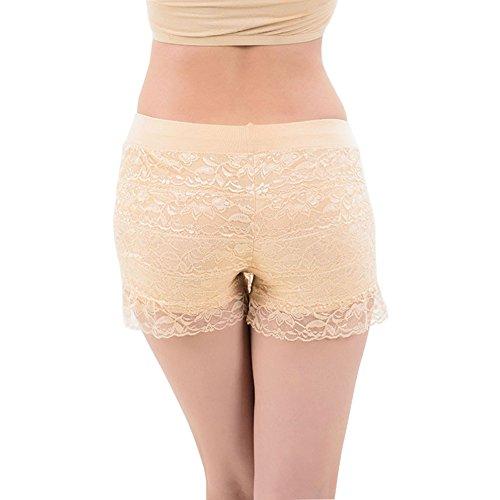 Bel Avril Lot de 3 Culotte de Sécurité Short /Sous Vêtement Short de la dentelle Pour Femme Fille en Grande Taille, en Modal 3 couleurs