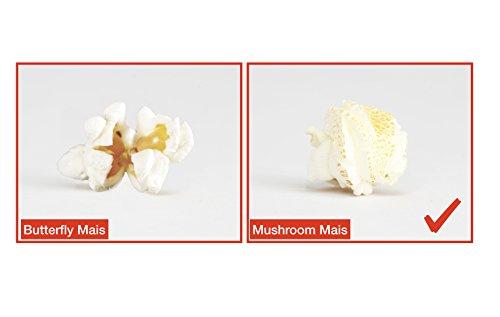 Popcornmais Mushroom Mais 4 x 500 g Original Popcornloop Popcorn Beste Qualität Ohne Gentechnik Vegan Glutenfrei