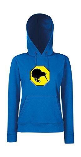 Kapuzenpullover für Frauen - Kiwi (Eckig) Blau