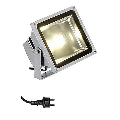 Außenleuchte LED OUTDOOR BEAM 30W Strahler silbergrau, LED weiß EEK: A+