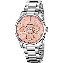 Festina F16813/2 - Reloj para mujeres, correa de acero inoxidable color plateado