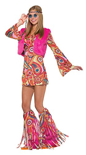 Forum Novelties 77053 Hippie-Fell Rever Groovy Kostüm (UK 10–12)
