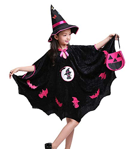 Keepen Halloween Bowknot Kinder Baby Mädchen Mantel Cosplay Maskerade Hexe Mantel Elf Mantel Zauberer Kostüm Für 4-15 Jahre Alt