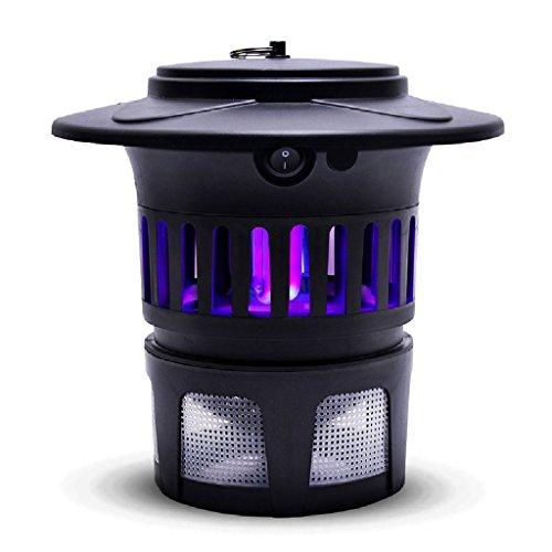 GJY Light Touch Mosquito Lamp, Mosquito casero Catalizador de luz Mosquito Lamp UV Lámpara de Mosquito Color: Negro