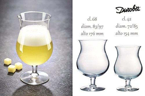 DUROBOR 1604089 Lot de 6 Verres à Cocktails 58 cl, Transparent