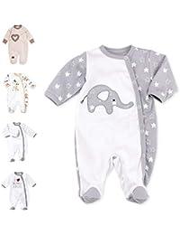 Baby Sweets Unisex Baby-Strampler aus Baumwolle für Mädchen und Jungen/Baby Overall mit Füßen als Langarm-Schlafanzug für Neugeborene, Babies und Kleinkinder in verschiedenen Größen