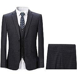 Trajes de Hombre Traje Elegante De 3 Piezas Blazer Chaleco y Pantalones