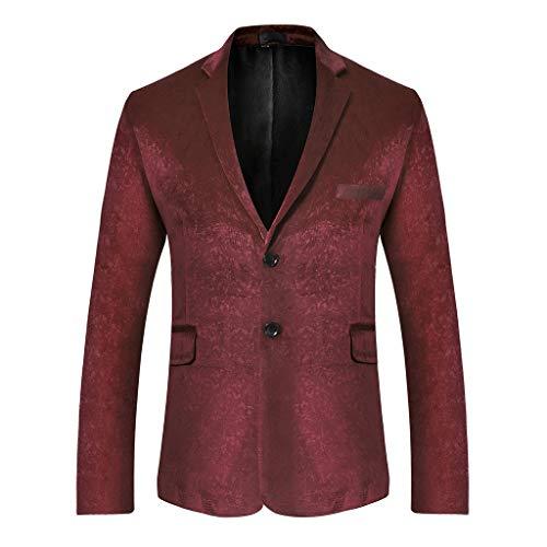 Setsail Herren stilvolle Feste Klage-Blazer-Geschäfts-Hochzeitsfest-Outwear-Jacke übersteigt Bluse -
