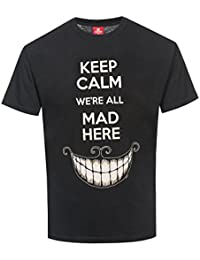 Alice im Wunderland Keep Calm We're All Mad Here T-Shirt schwarz