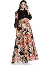 AL - Indian Luxury Women's Chiffon A-Line Kurta
