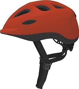 ABUS Kinder Fahrradhelm Smiley, Red, 45-50 cm, 11333-8