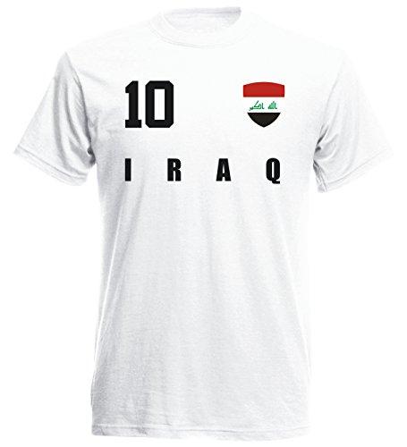 Irak WM 2018 T-Shirt Fußball Trikot Street - Weiss ALL-10 - S M L XL XXL (S)