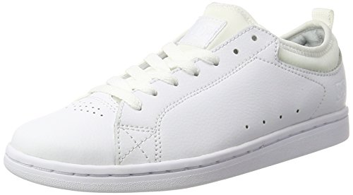 DC Shoes Magnolia, Scarpe da Ginnastica Basse Donna, Bianco White-Combo, 36 EU