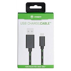 snakebyte Xbox One Micro USB CHARGE:CABLE – schwarz/grün – für sämtliche Xbox One Controller – Kabel PS4 & Xbox One…