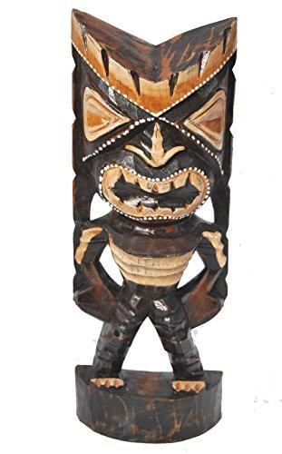 Tiki-Escultura-30-cm-de-madera-de-ligero-Tiki-God-Hawaii-isla-de-Pascua