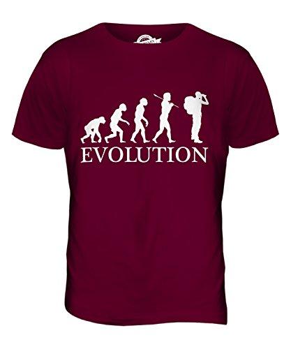 CandyMix Abenteuer Evolution Des Menschen Herren T Shirt Burgunderrot