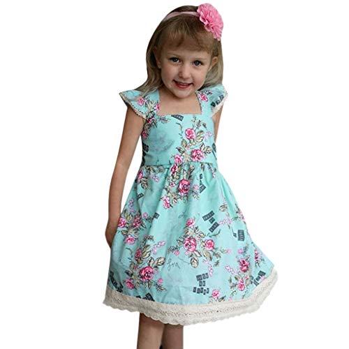 Kobay Kinder Kinder Mädchen fliegen Ärmel Blumenmuster Dance Party Princess Dress