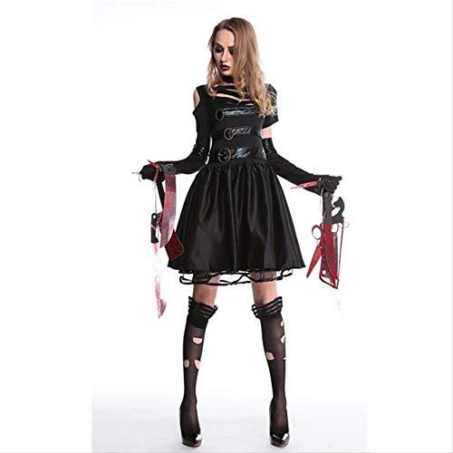 WARRT Halloween KostümHalloween-kostüme Für Frauen Beängstigend Party Kostüm Weibliche Horror Killer Sexy Tag Der Toten Kleidung XL Kleid (Original Kostüm Weiblich)